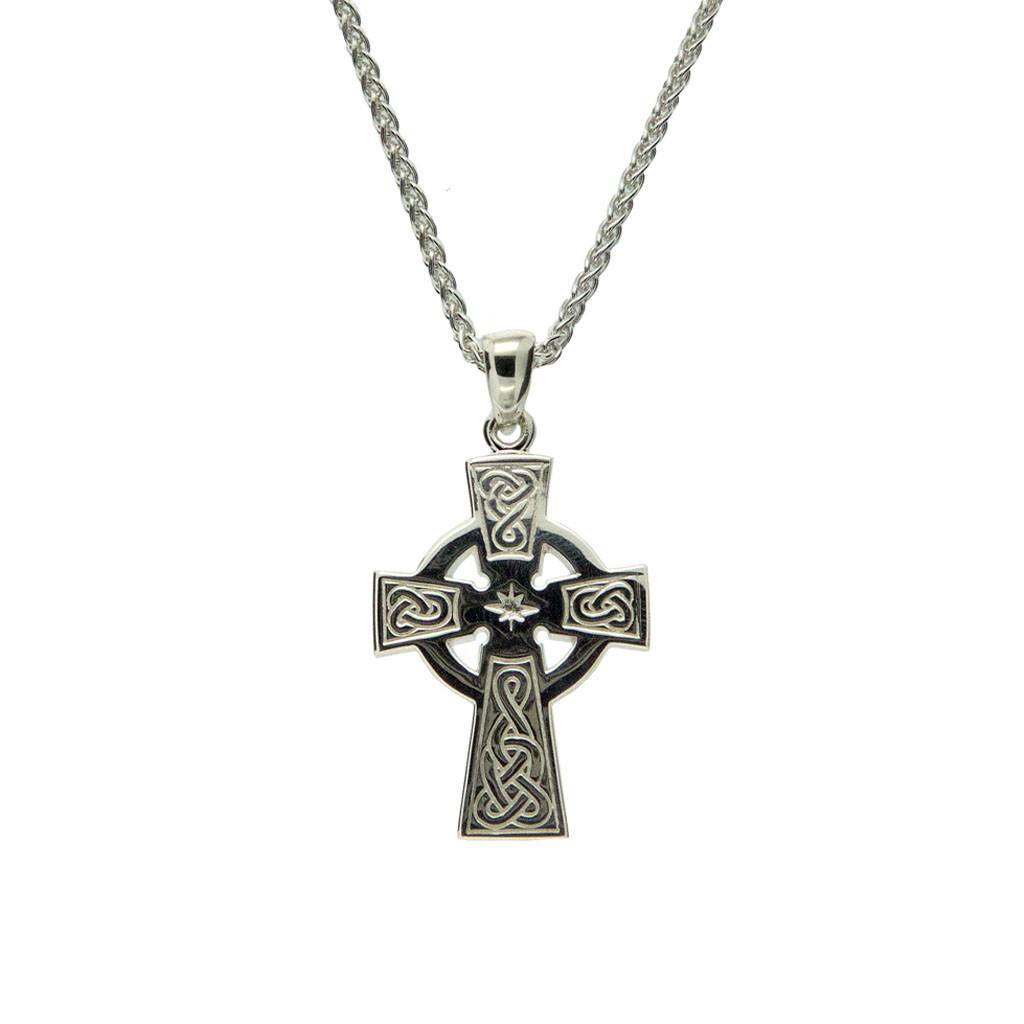 Pendant: Sterling Silver Celtic Cross Medium