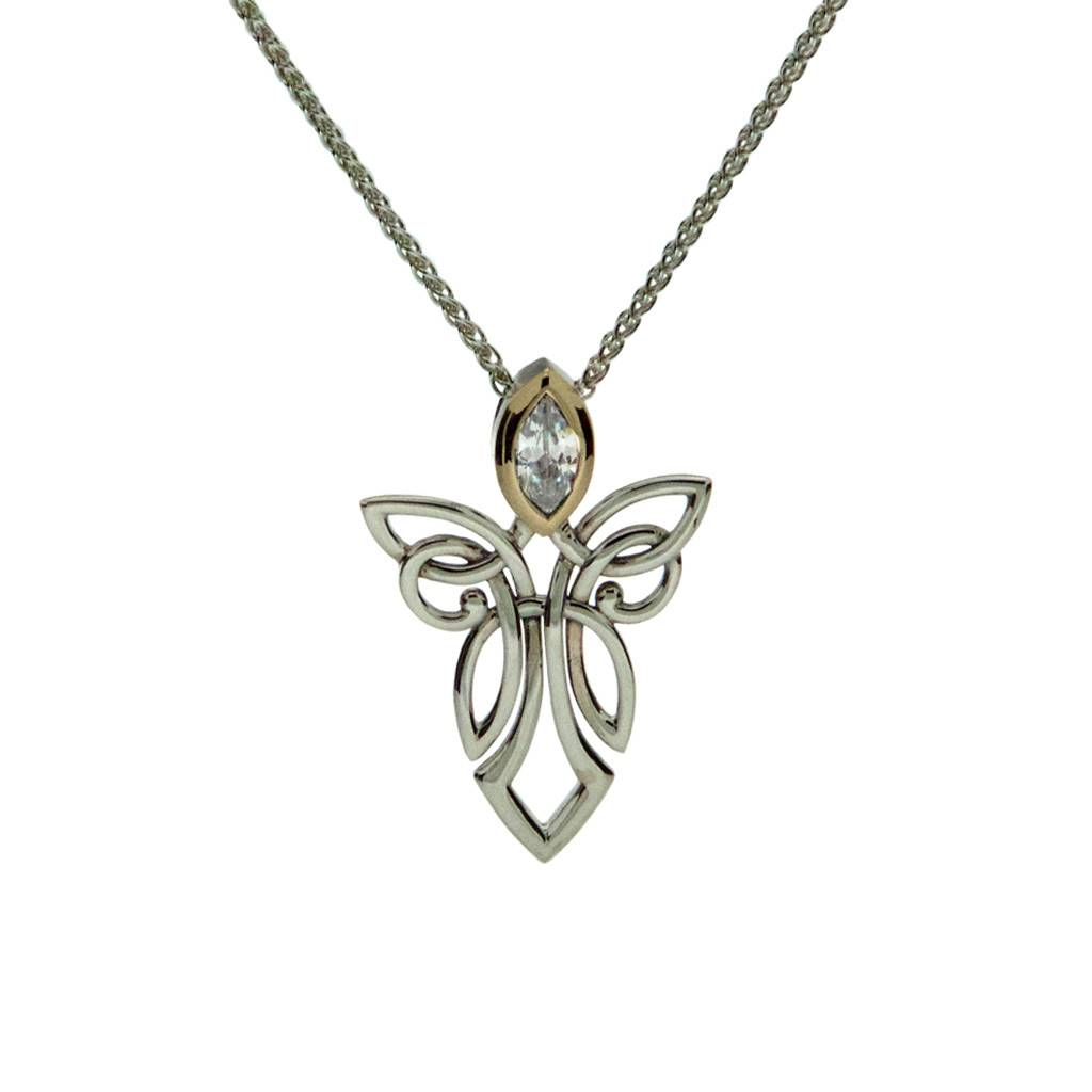 Pendant: Sterling Silver 10k Angel