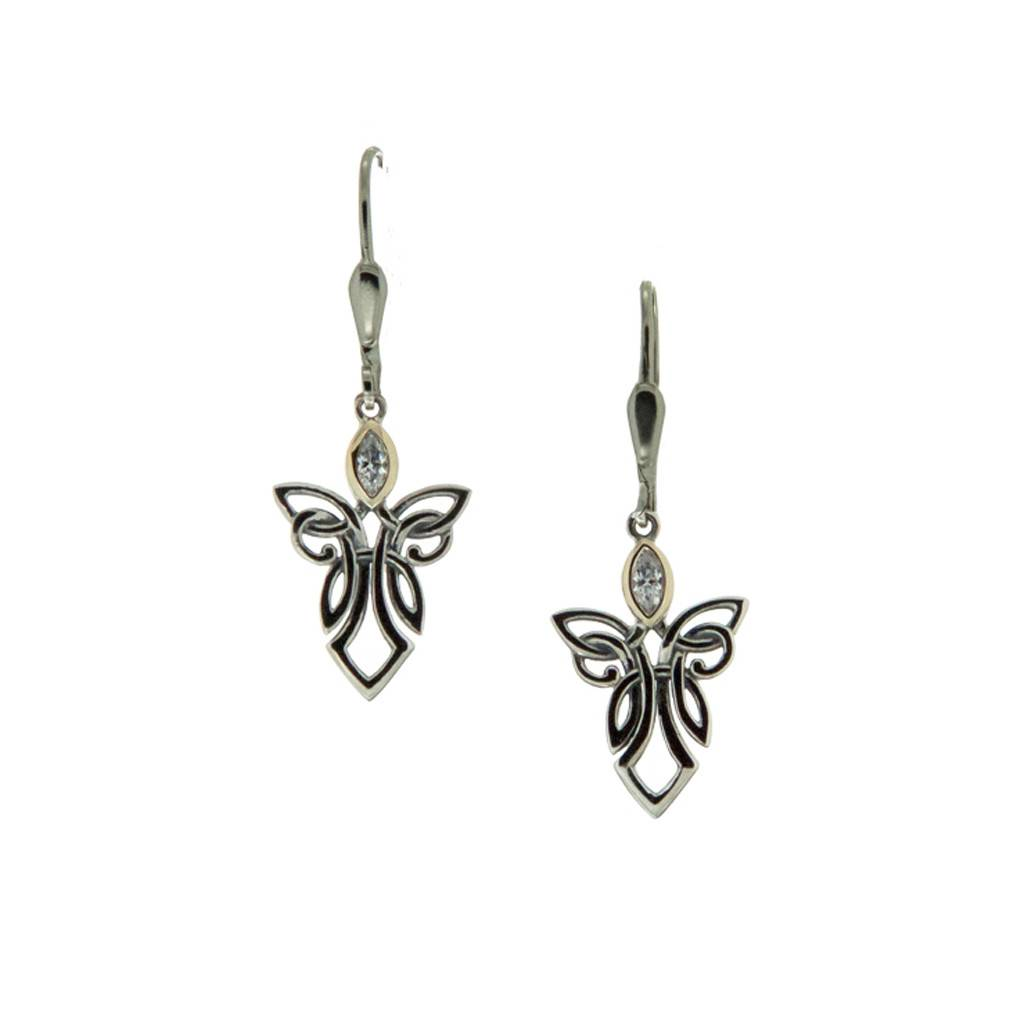 Earrings: Sterling Silver 10k Angel