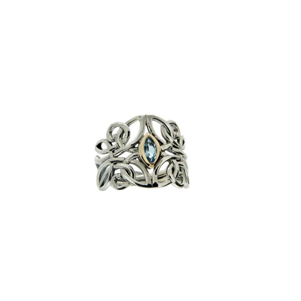 Ring: Sterling Silver 10k Angel