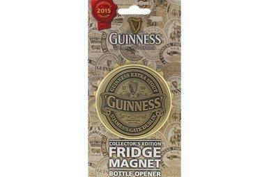 Guinness: 3D Bottle Cap Opener Magnet