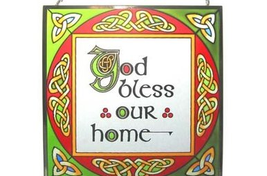 Stained Glass: God Bless Our Home