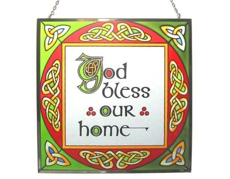 Clara Stained Glass: God Bless Our Home