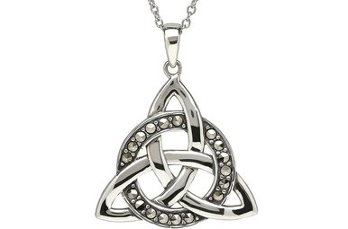 Pendant: Sterling Silver Trinity Circle Marcasite