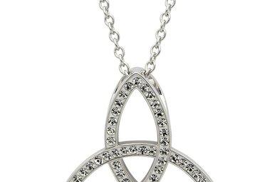 Necklace: SS White Swarovski Trinity