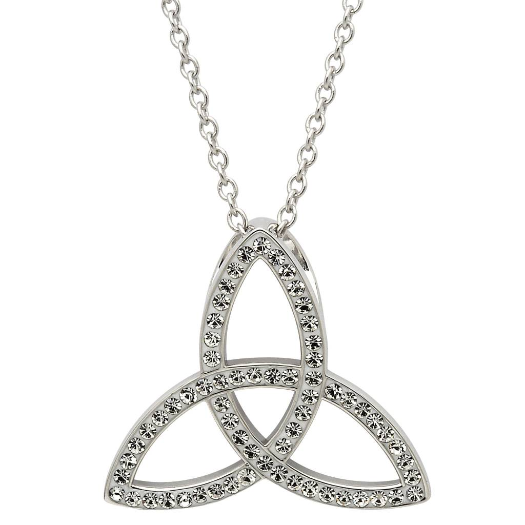 Necklace: SS White Swarovski Trinity