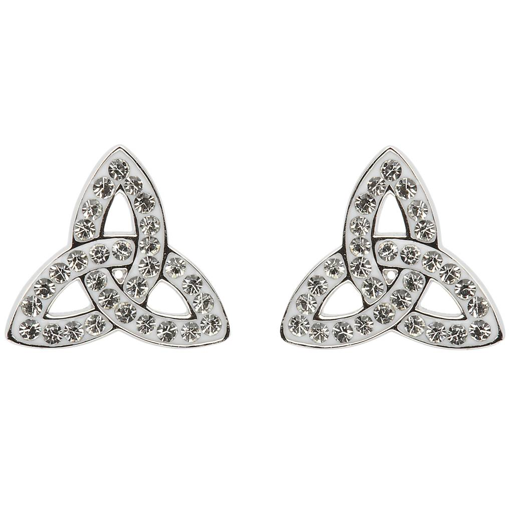 Earrings: SS White Swarovski Trinity Stud