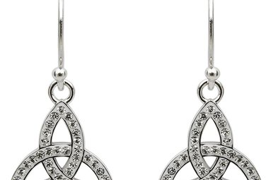Earrings: SS White Swarovski Trinity Drop
