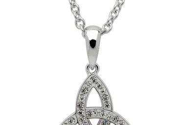 Necklace: SS White Swarovski Sm Trinity