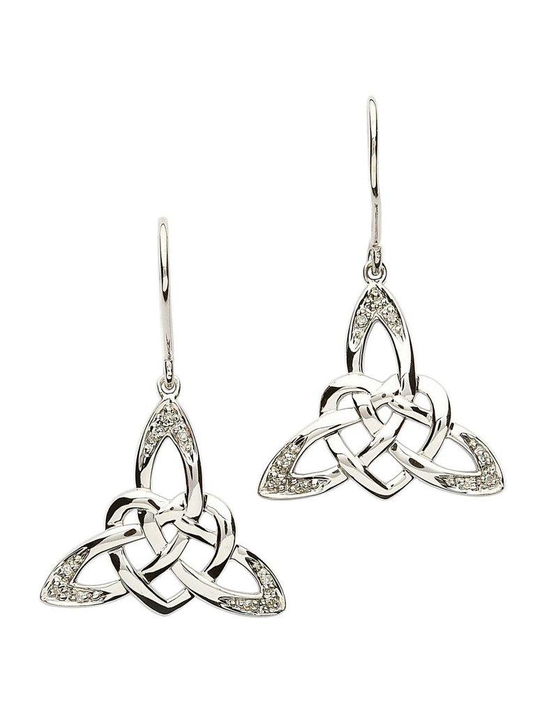 Earrings: SS Celtic Heart CZ