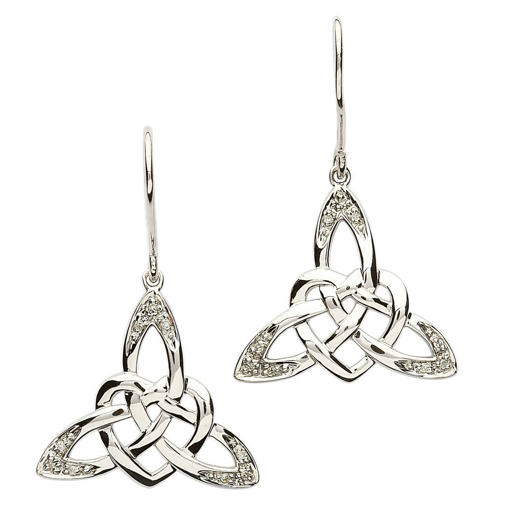 Earrings: SS Celtic Heart CZ