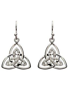 Earrings: SS CZ Double Trinity