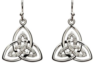 Earrings: SS CZ Double Trinity