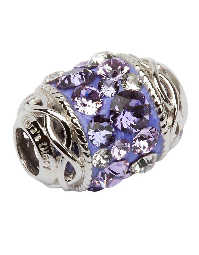 Bead: Silver Violet Swarovski Celtic
