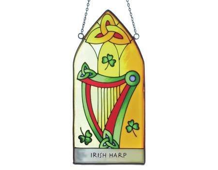 Clara Stained Glass: Irish Harp Gothic