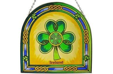 Stained Glass: Shamrock Ireland
