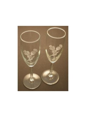 Glass: Deluxe Clear Stem Flutes/Thistle