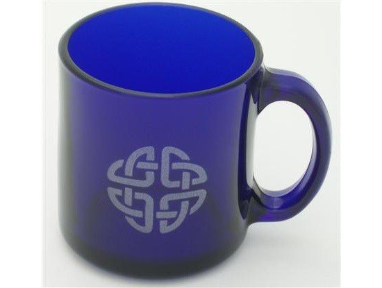 Mug: Cobalt Coffee/Celtic Etch