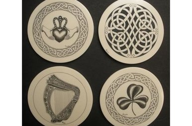 Coasters: Set of 4 Resin