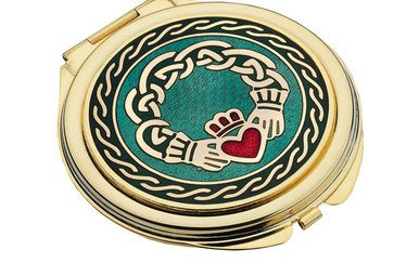 Mirror: Compact Claddagh Gold