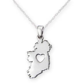 Pendant: Silver Heart Of Ireland