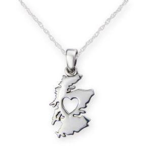 Pendant: Silver Heart Of Scotland