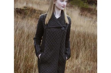 Sweater: Single Button Pleated Coat