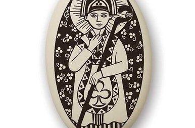 Necklace: Ceramic St. Patrick