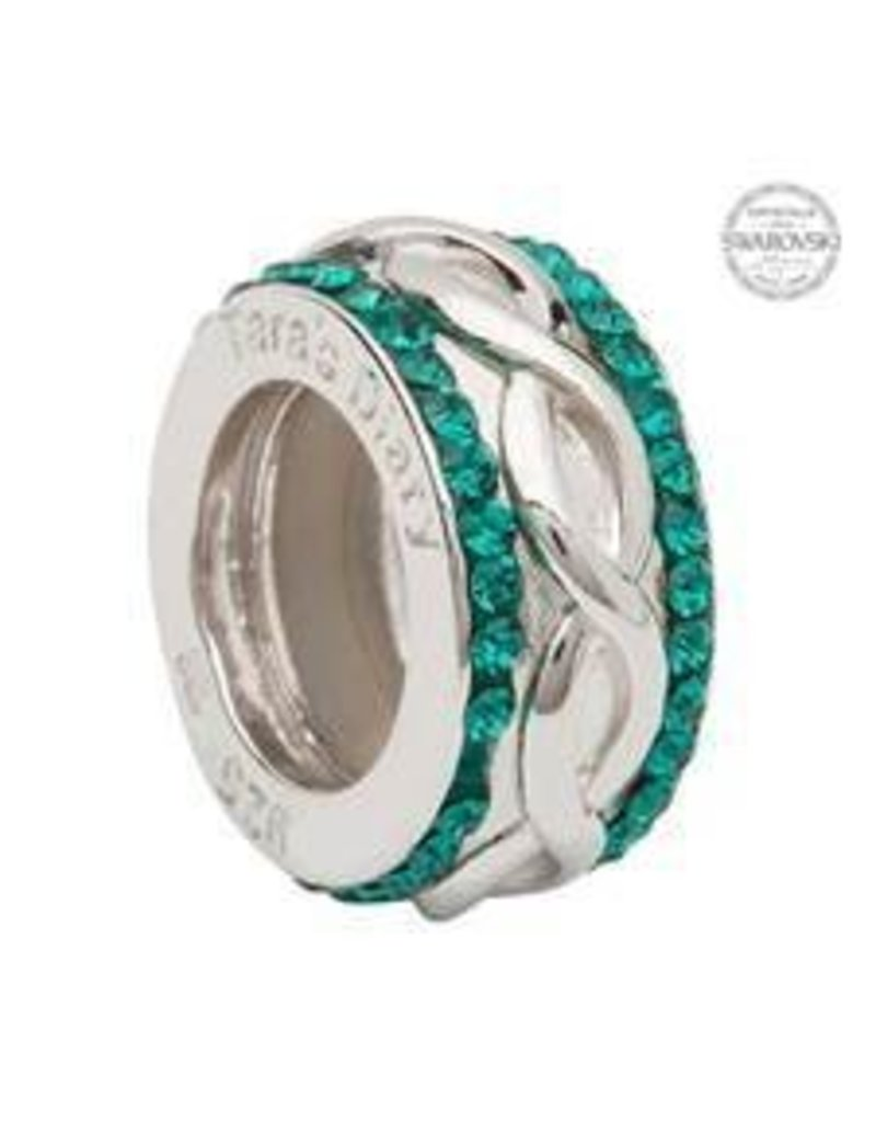 Bead: SS SW Celtic Weave Green