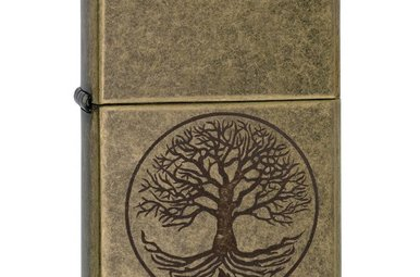 Lighter: Zippo Tree of Life, Antique Brass