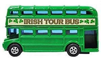 Toy: Double Decker Irish Tour Bus, Die-Cast