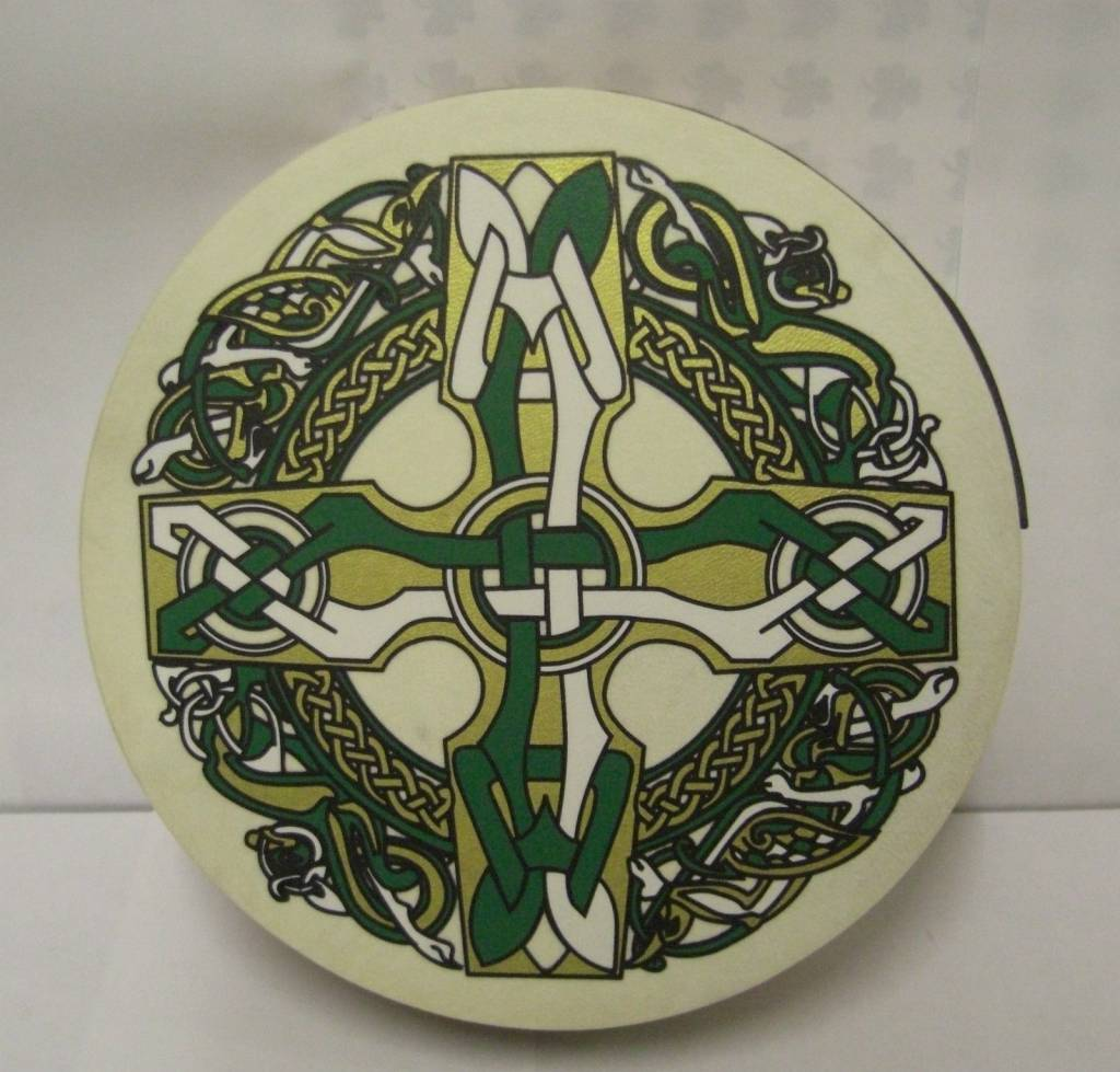 "Bodhran: 8"" Celtic Cross"