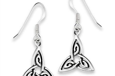 Earring: SS Interwoven Triquetra WE9658