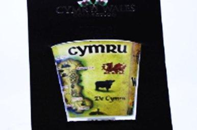 Shot Glass: Welsh Cymru Map