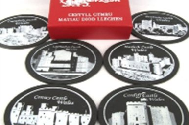 Coaster: Welsh Castles, Slate 6pk