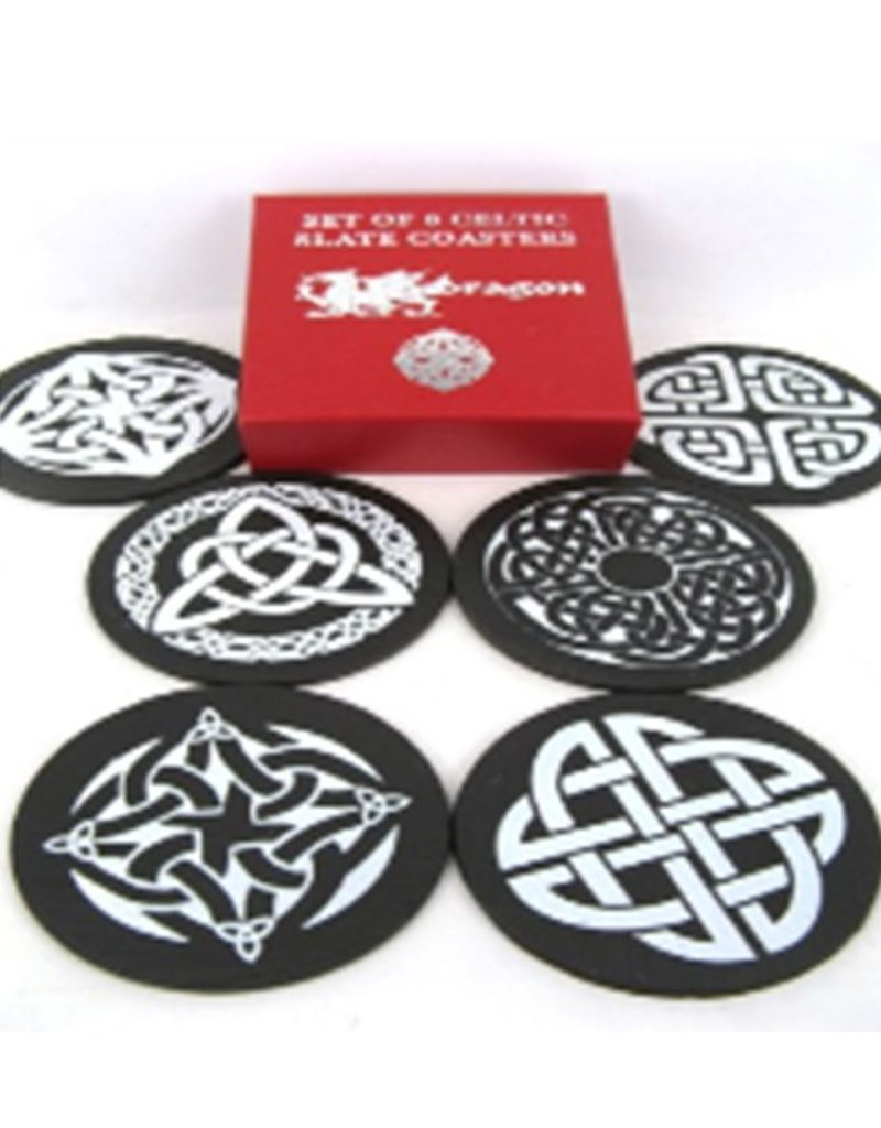 Coaster: Celtic Knot, Slate 6pk