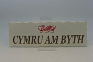 Plaque: Cymru Am Byth, Wood