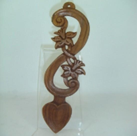 Pendragon Lovespoon: Wood Daffodil, 8.5 in