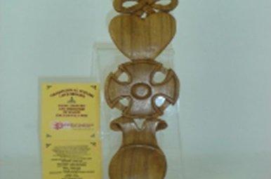 Lovespoon: Wood Cross, 9 in