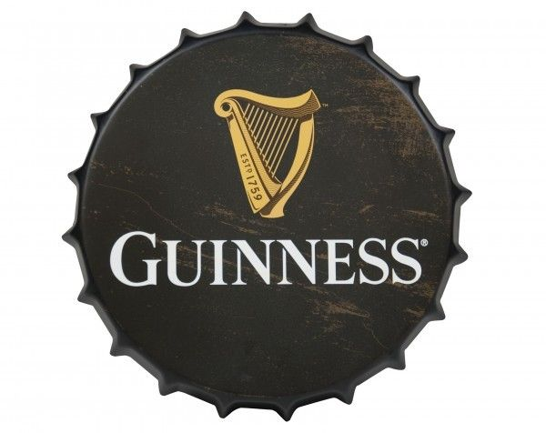Sign: Guinness Bottle Cap