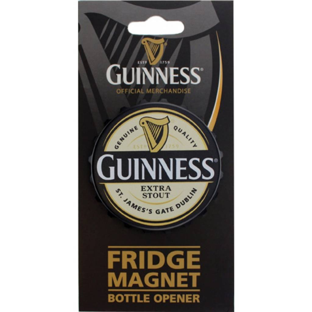 Guinness: 3D Bottle Cap Opener Magnet