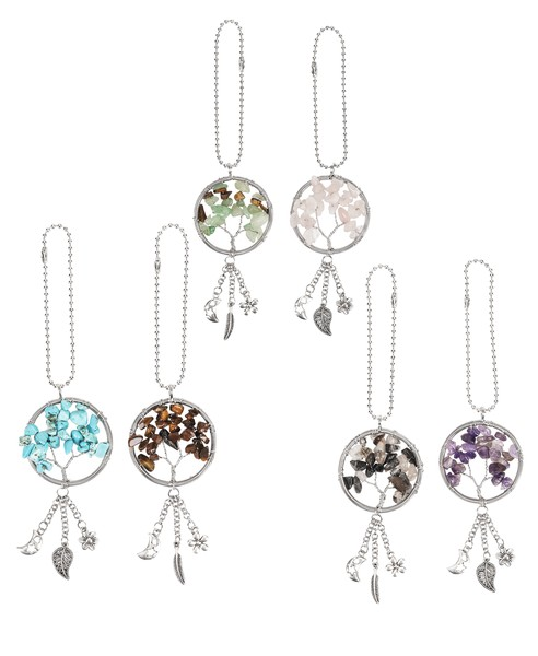 Ganz Car Charm: Tree of Life w/Stones