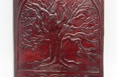 Journal: Leather Large Tree 7X10