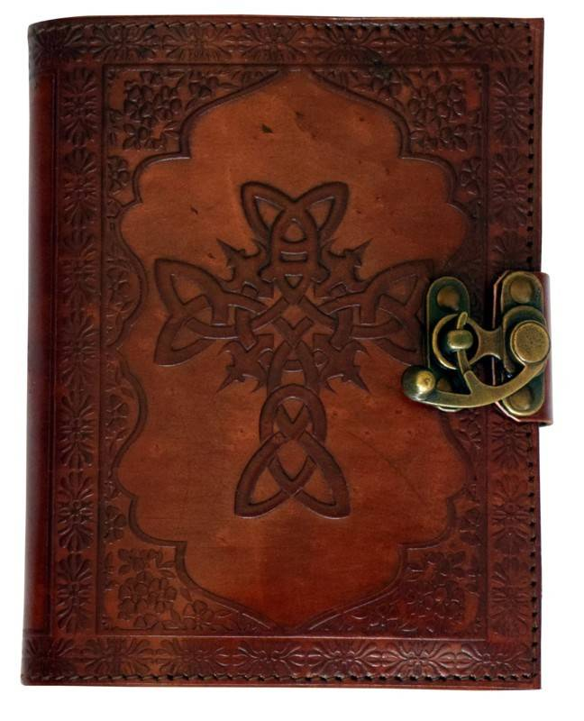 Journal: Celtic Cross Leather 5X7