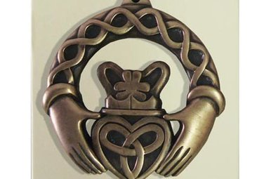 Ornament: Claddagh Ring Bronze