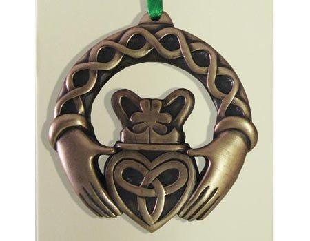 Clara Ornament: Claddagh Ring Bronze