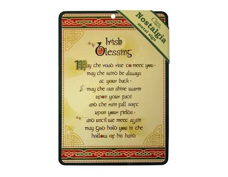 Sign: Irish Blessing Nostalgia
