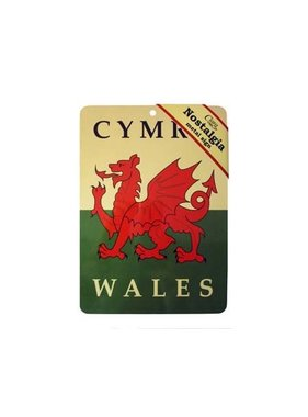 Sign: Welsh Dragon Flag Nostalgia