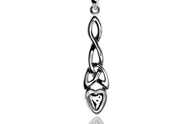 Pendant: Silver Welsh Love Spoon/Knot