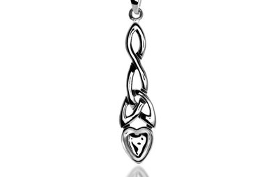 Pendent: Silver Welsh Love Spoon/Knot